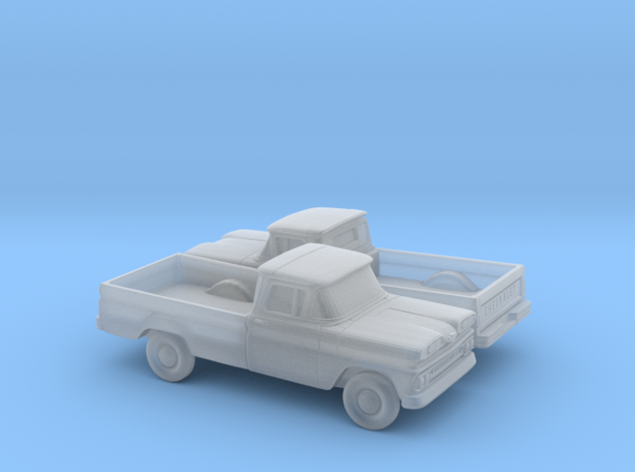 1/160 2X 1961 Chevrolet C-10 Fleetside Small Rear 3d printed