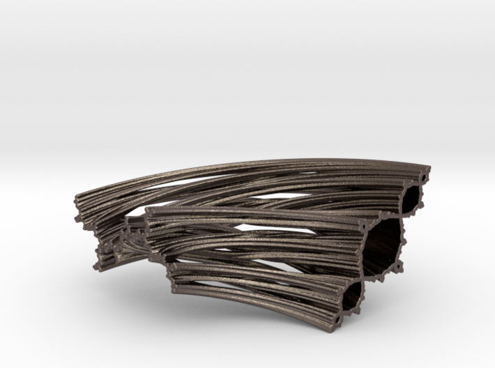 Quarter Unit Circle Julia Sets (135°, thick) 3d printed