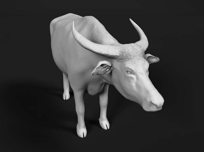 Domestic Asian Water Buffalo 1:35 Standing Male 3d printed