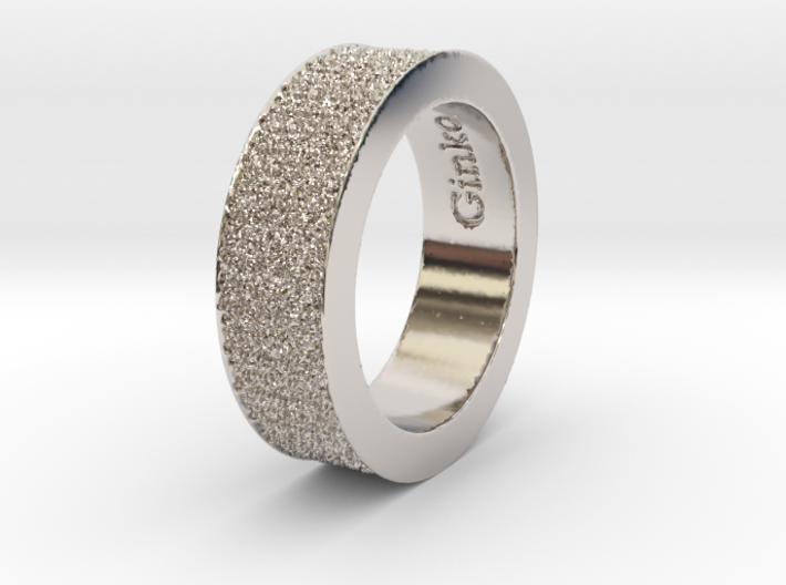 Ginko Ring 3d printed