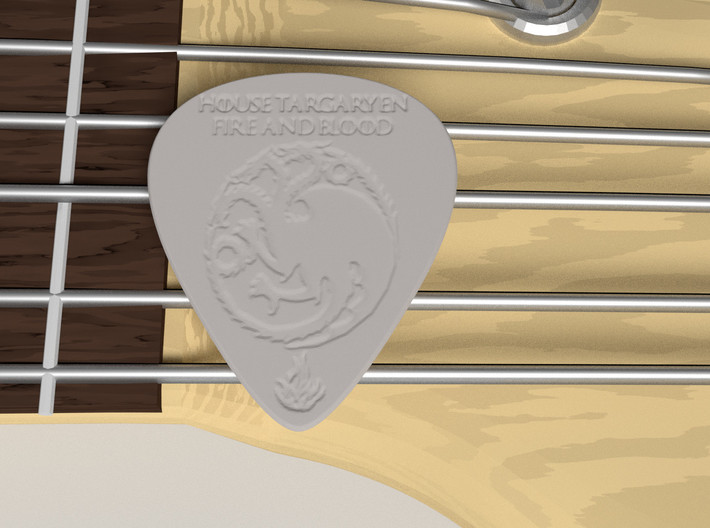 Game of Thrones Targaryen Professional Guitar Pick 3d printed