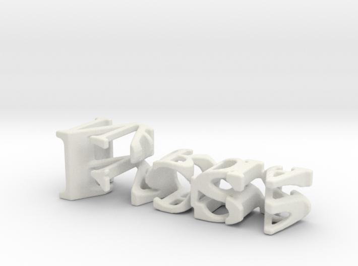 3dWordFlip: Ross/Nardia 3d printed