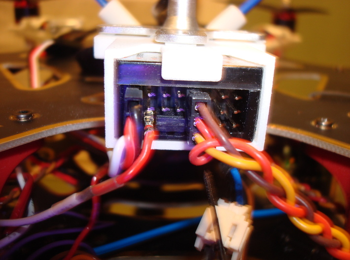 RX Mount 3d printed close up of outputs