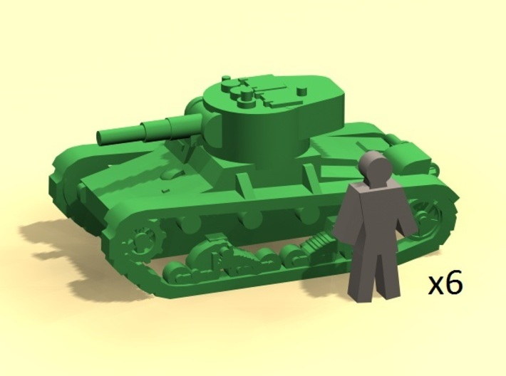 6mm T-26 WW2 Soviet tanks (6) 3d printed