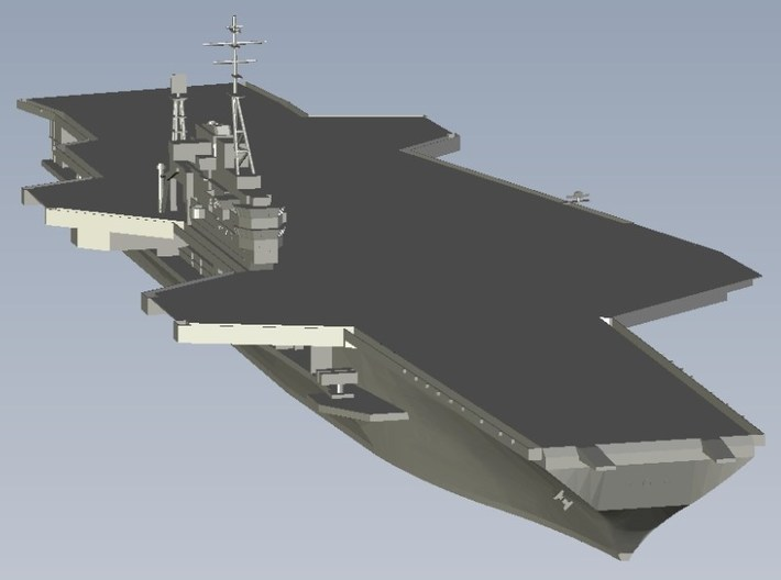 1/1800 scale USS Midway CV-41 aircraft carrier x 2 3d printed