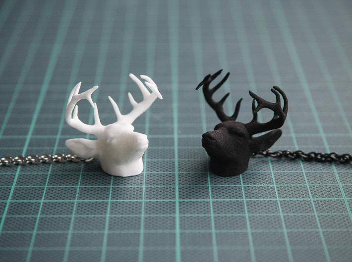 Deer Head Pendant 3d printed Strong & Flexible