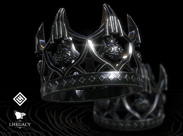 Spider Queen Ring 3d printed