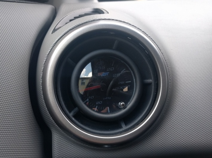 Chevy Sonic Vent Boost Gauge Pod Mount 3d printed