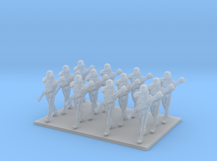1/144 Custom Diorama Soldiers Marching X 12 3d printed