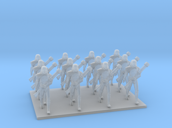 1/72 Star Falcon Diorama - Marching Troopers X 12 3d printed