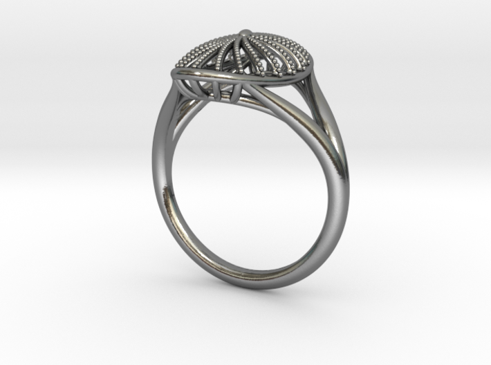 Oval Fashion Ring 3d printed