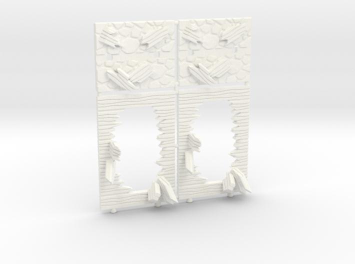 Broken Walls tokens (28-32mm scale) 3d printed