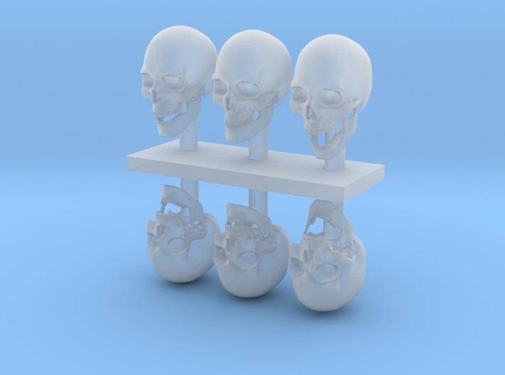1:12 scale Skulls 3d printed