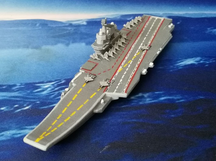 PLA[N] 001A Carrier (2016), HD Version, 1/1800 3d printed HP Jet S&F Prototype, w/ J-31 Pack