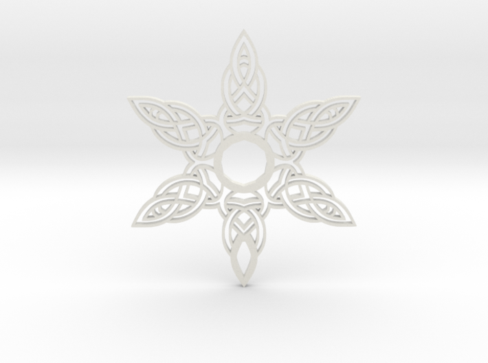 Celtic Knot Abstract Amulet Form 3d printed