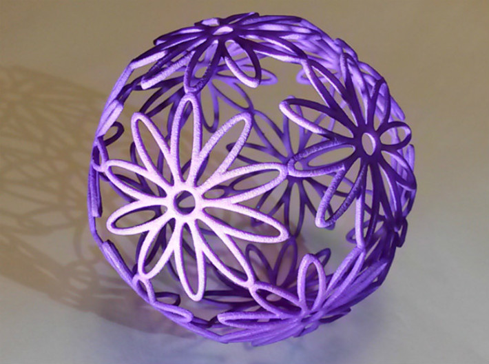Dodeca Flower Medium (approx 80mm diameter) 3d printed DodecaFlower 80mm Purple
