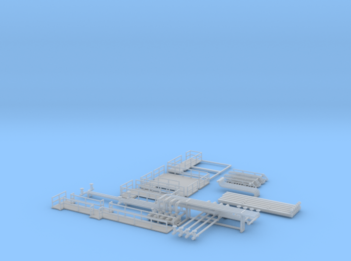 N Scale Chemical Storage Installation part 1 3d printed