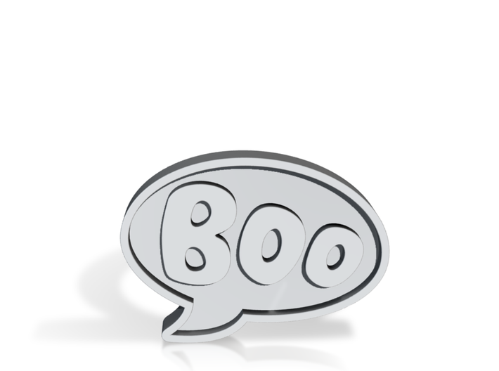 Boo Conversation Bubble Ring 3d printed