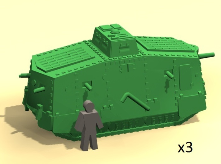 6mm WW1 A7V tank 3d printed