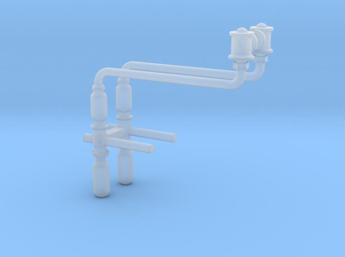 HO scale Baldwin injectors 3d printed