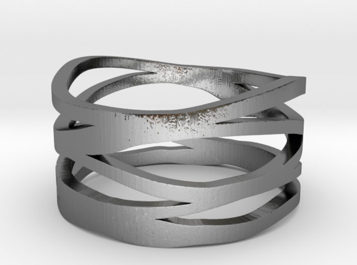 Strands Ring 3d printed
