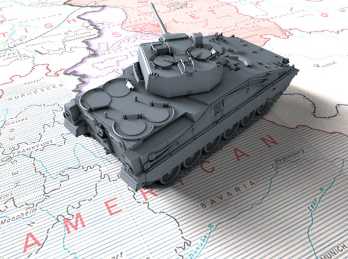 1/72 German Marder 2 Infantry Fighting Vehicle 3d printed 3d render showing product detail