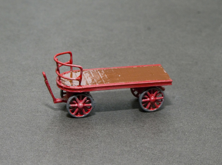 Canadian Railway Postal Baggage Cart - HO (1:87) 3d printed Painted and Assembled Cart