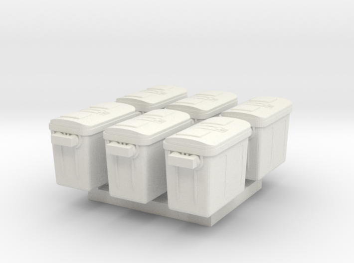 1/87 Scale Freezer Containers x6 3d printed