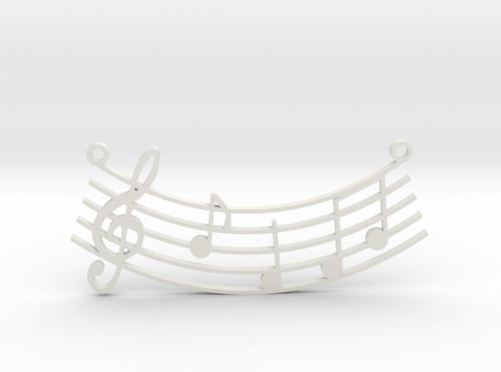 Music Pendant 3d printed