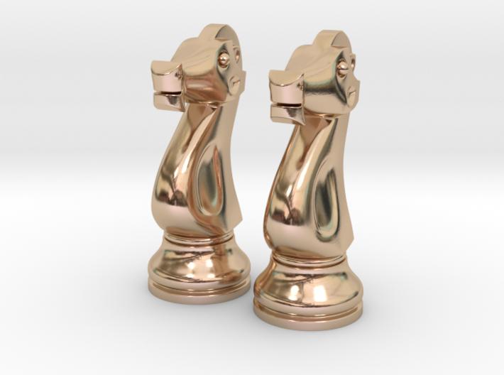"Pair Knight Chess Big - Timur Knight ""Asp"" 3d printed"