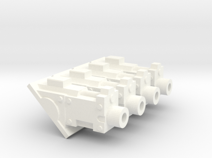 Hull gyrojet guns for Zerber tank 3d printed