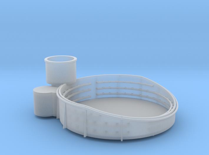 1/96 USN 40mm Quad Gun Tub Fore Superstructure Por 3d printed