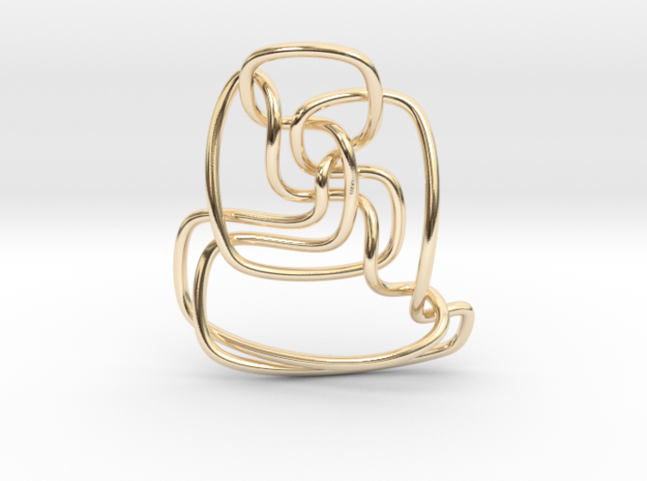 Thistlethwaite unknot (Circle) 3d printed