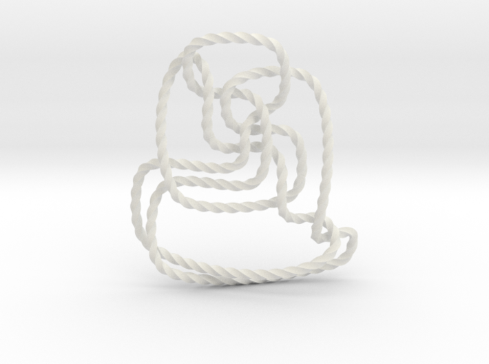 Thistlethwaite unknot (Twisted square) 3d printed