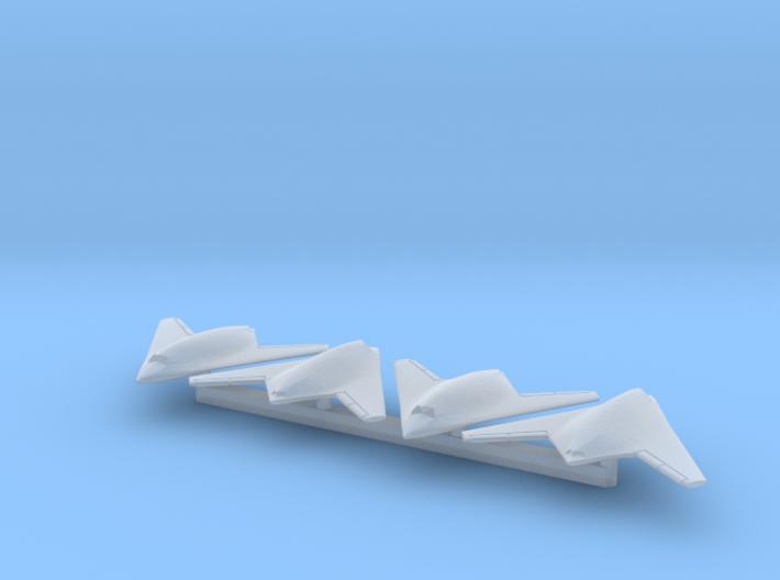 1/700 nEUROn UCAV x4 (FUD) 3d printed