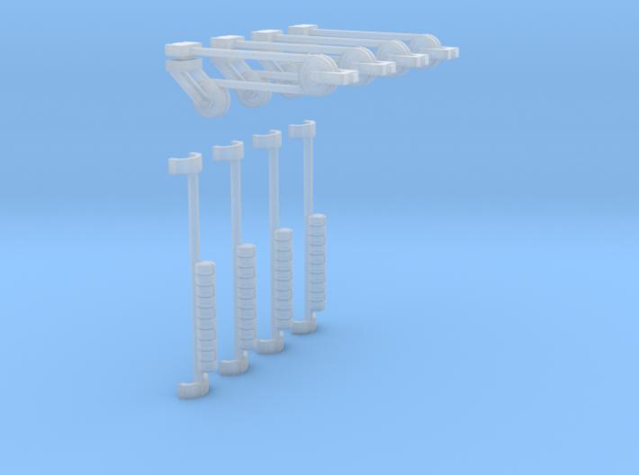 4x Fahrdrahtspanner für Winkelmast (TT 1:120) 3d printed