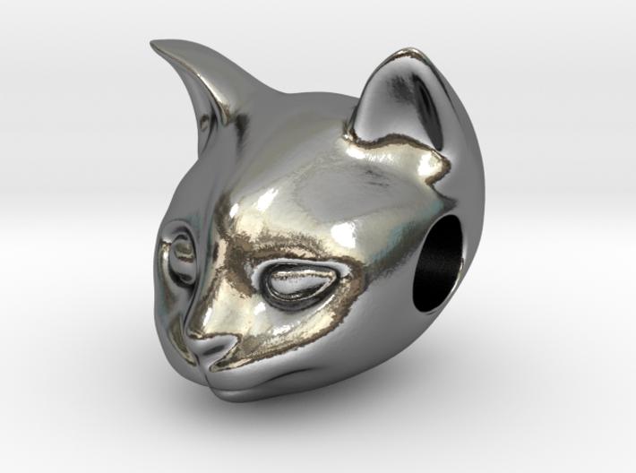 Cat Lover Friendship Bracelet Charm - Curious Cat 3d printed