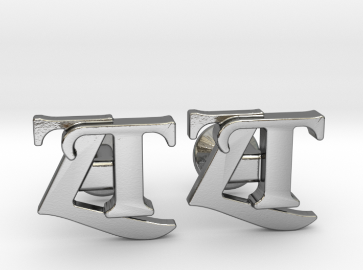 Monogram Cufflinks ZT 3d printed