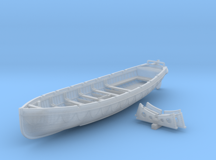 1/200 Scale Royal Navy 32ft Cutter x1 3d printed 1/200 Scale Royal Navy 32ft Cutter x1