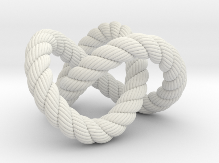 Trefoil knot (Rope with detail) 3d printed