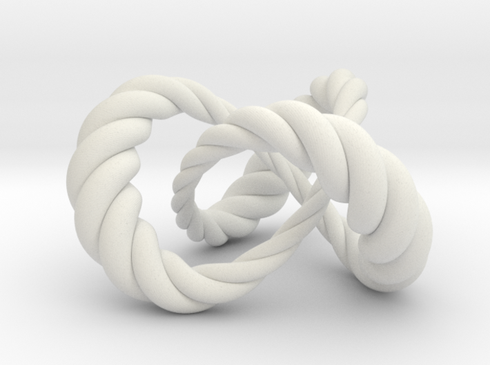 Varying thickness trefoil knot (Rope) 3d printed