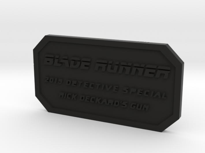 Label for PKD M2019 3d printed