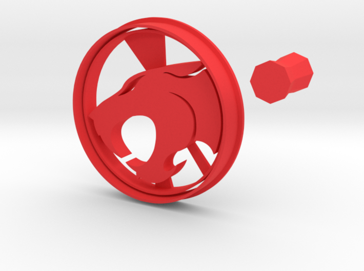 Thundercats Sign Cookie Cutter + handle 3d printed
