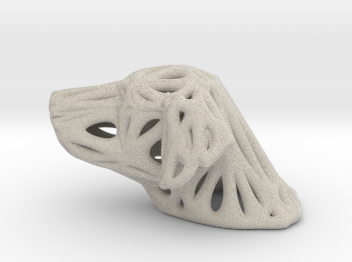 Sandstone Voronoi Dog by Good54 3d printed Sandstone Voronoi Dog by Good54