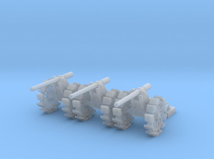 1/144 De Bange 155mm cannon with shoes 3d printed