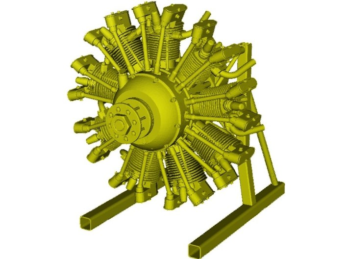 1/15 scale Wright J-5 Whirlwind R-790 engine x 1 3d printed