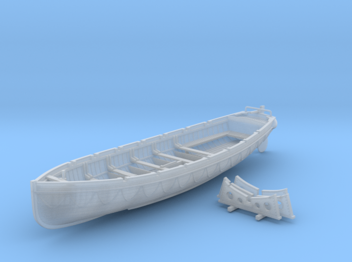 1/96 Scale Royal Navy 32ft Cutter x1 3d printed 1/96 Scale Royal Navy 32ft Cutter x1