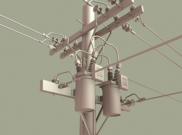 Telephone Power Poles Set Of Eight 3d printed Design after these Power pole