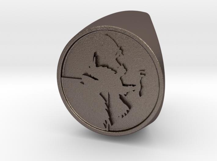 Custom Signet Ring 60 3d printed