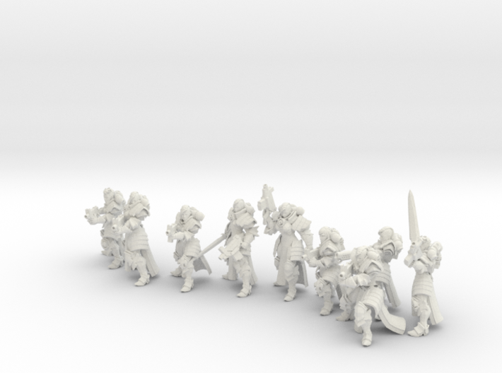 32mm Gothic war Sisters 3d printed